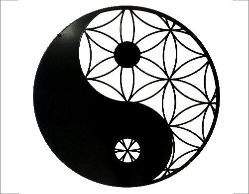 Wanddecoratie Yin-Yan zwart