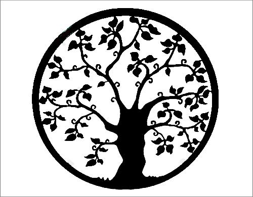 wens/levensboom zwart