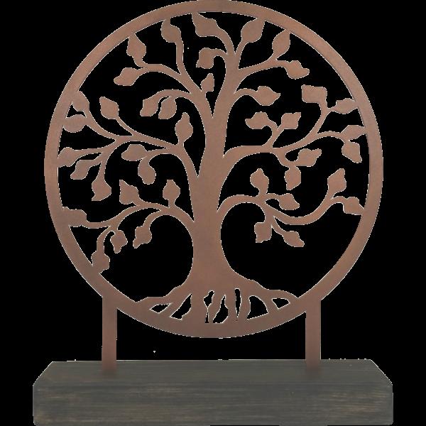 Levensboom staand brons