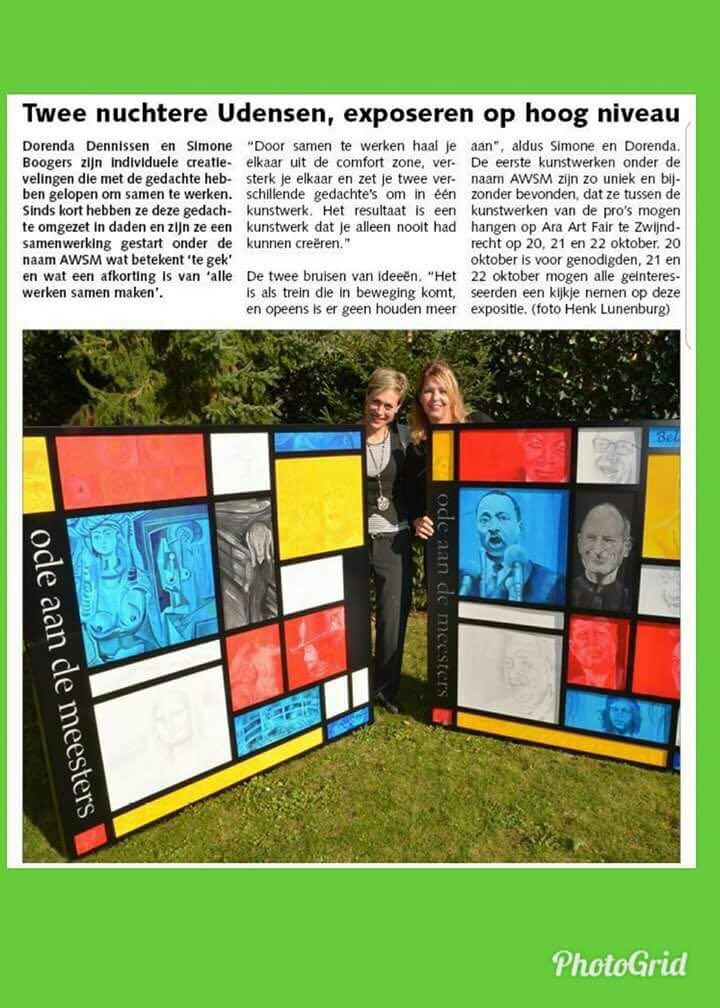 expositie aandacht krant
