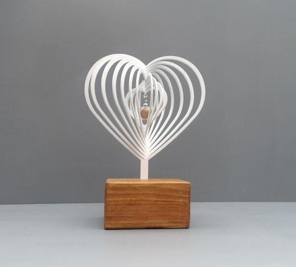 3D urn hart wit