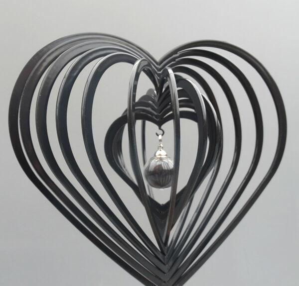 3d urn hart zwart