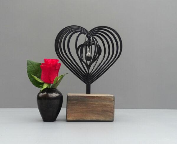 3D urn hart antraciet/zwart
