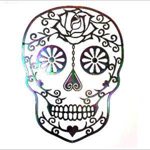Wanddeco sugar skull gepassiveerd