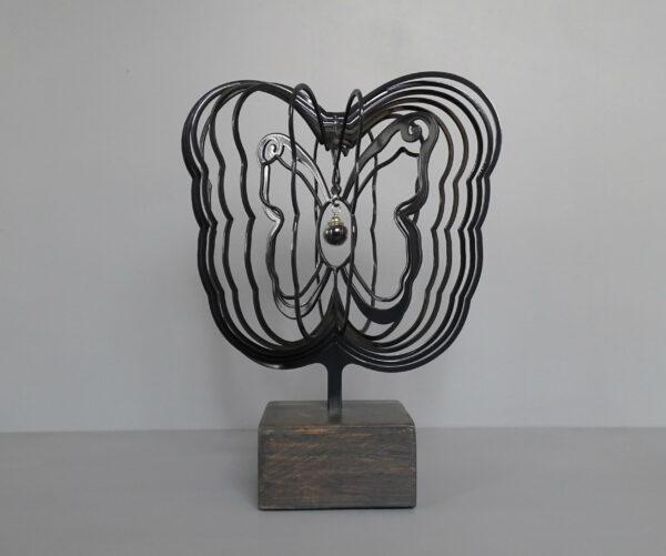 3D vlinder zwart