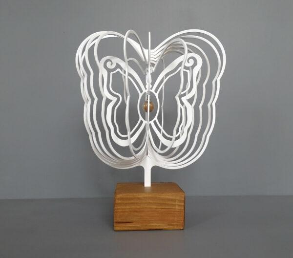 3D vlinder wit