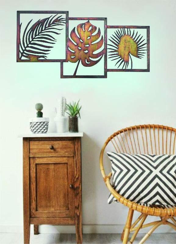 wanddecoratie palmblad sfeer