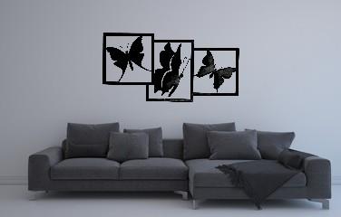 Wanddeco vlinders sfeer