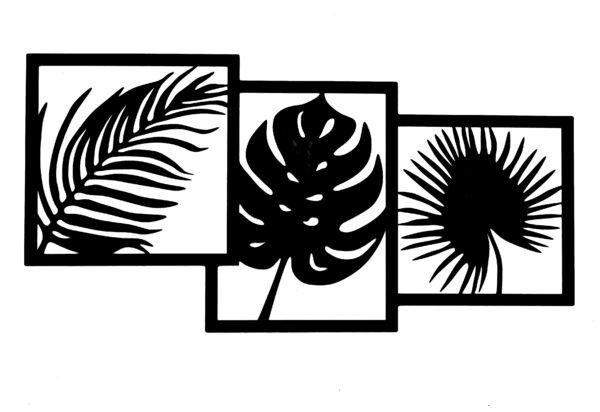 Wanddecoratie palmblad gecoat