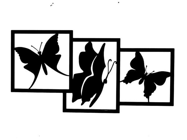wanddecoratie vlinders zwart