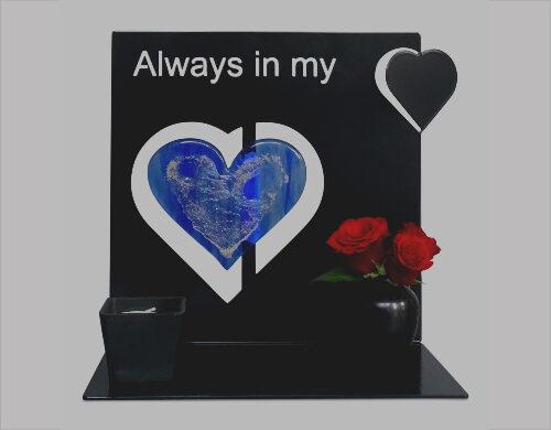 hart urn met glas