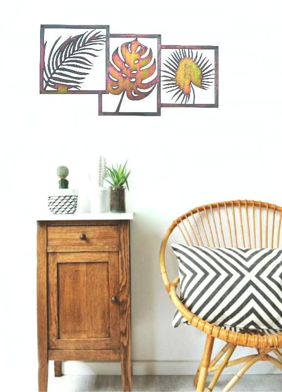 wanddecoratie palmbladeren