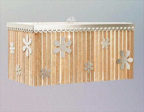 Lampenkap RVS/hout