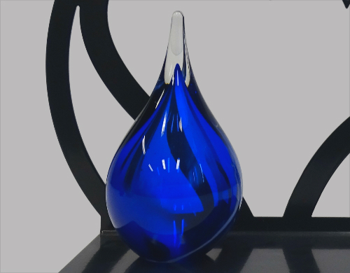 Urn glas traan