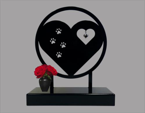 Gedenkobject hart met pootjes