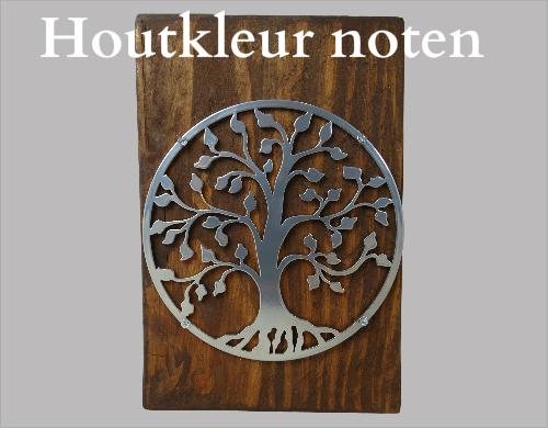 urn noten kleur hout