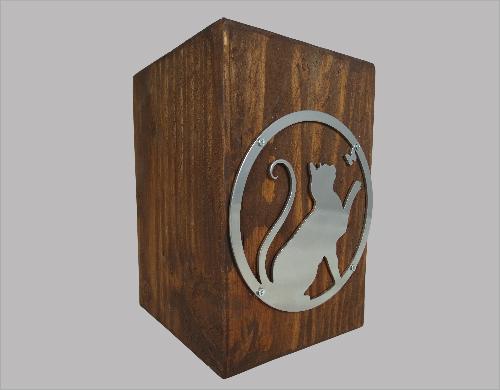 urn hout met poes