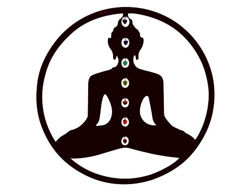 yoga wanddecoratie zwart